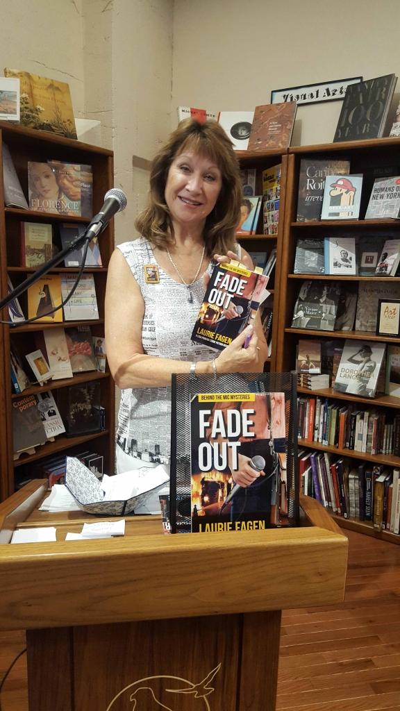 Laurie at Peregrine Book Co. in Prescott, AZ June 2016